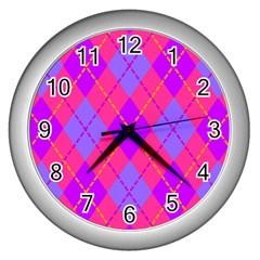 Texture Wall Clocks (silver)  by Jojostore