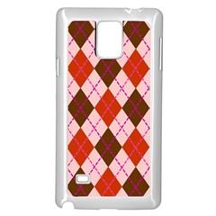Texture Background Argyle Brown Samsung Galaxy Note 4 Case (white) by Jojostore