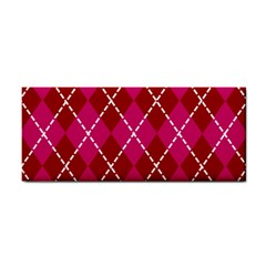 Texture Background Argyle Pink Red Cosmetic Storage Cases by Jojostore