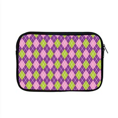 Purple Green Argyle Background Apple Macbook Pro 15  Zipper Case by Jojostore