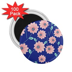 Seamless Blue Floral 2 25  Magnets (100 Pack)  by Jojostore