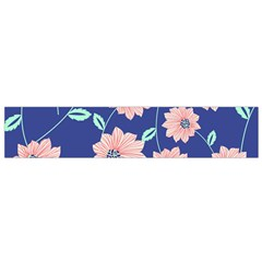Seamless Blue Floral Flano Scarf (small) by Jojostore