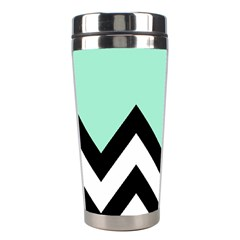 Mint Green Chevron Stainless Steel Travel Tumblers