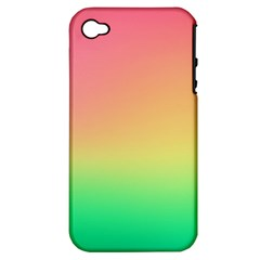 The Walls Pink Green Yellow Apple Iphone 4/4s Hardshell Case (pc+silicone) by Jojostore