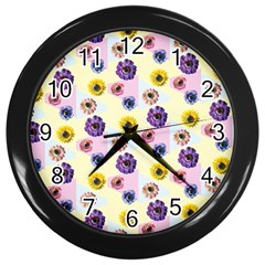 Monster Eye Flower Wall Clocks (black)