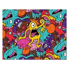 Monsters Pattern Rectangular Jigsaw Puzzl by Jojostore