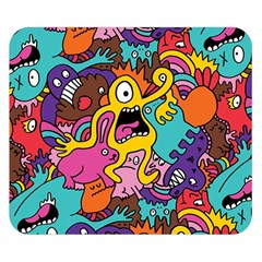 Monsters Pattern Double Sided Flano Blanket (small)  by Jojostore