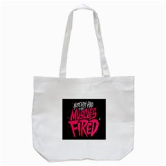 Muscles Fired Tote Bag (white) by Jojostore