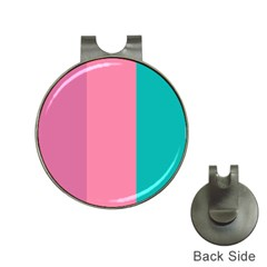 Pink Blue Three Color Hat Clips With Golf Markers by Jojostore