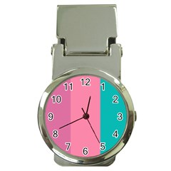 Pink Blue Three Color Money Clip Watches by Jojostore