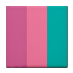 Pink Blue Three Color Face Towel by Jojostore