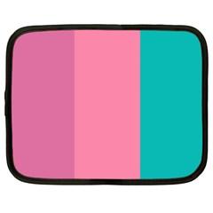 Pink Blue Three Color Netbook Case (xxl)  by Jojostore