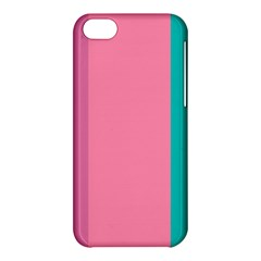 Pink Blue Three Color Apple Iphone 5c Hardshell Case by Jojostore