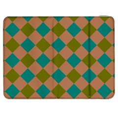 Plaid Box Brown Blue Samsung Galaxy Tab 7  P1000 Flip Case by Jojostore