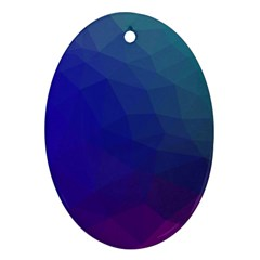 Polyart Dark Blue Purple Pattern Ornament (oval)  by Jojostore