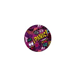 Panic Pattern 1  Mini Buttons by Jojostore