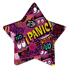 Panic Pattern Ornament (star)  by Jojostore