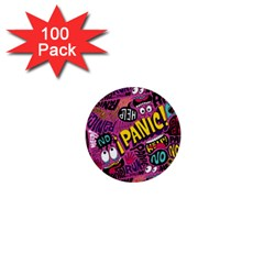 Panic Pattern 1  Mini Buttons (100 Pack)  by Jojostore
