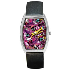 Panic Pattern Barrel Style Metal Watch by Jojostore