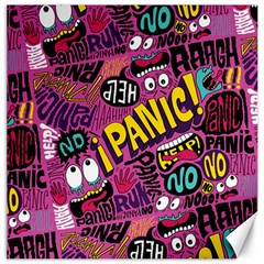 Panic Pattern Canvas 12  X 12   by Jojostore