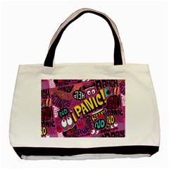 Panic Pattern Basic Tote Bag (two Sides) by Jojostore