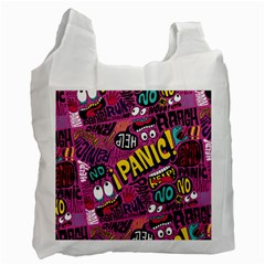 Panic Pattern Recycle Bag (two Side)  by Jojostore