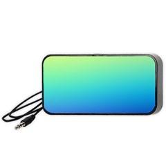 Purple Blue Green Portable Speaker (black)  by Jojostore
