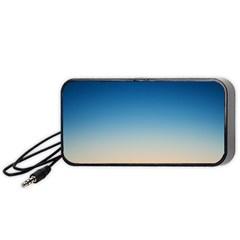 Rainbow Blue Orange Purple Portable Speaker (black)  by Jojostore