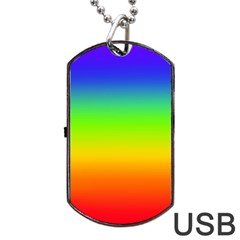 Rainbow Blue Green Pink Orange Dog Tag Usb Flash (one Side) by Jojostore