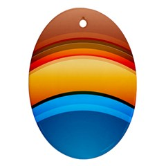 Rainbow Color Ornament (oval)  by Jojostore