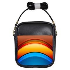 Rainbow Color Girls Sling Bags by Jojostore