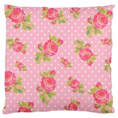 Rose Pink Large Cushion Case (two Sides) by Jojostore