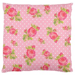 Rose Pink Standard Flano Cushion Case (one Side)