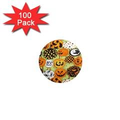Print Halloween 1  Mini Magnets (100 Pack)  by Jojostore