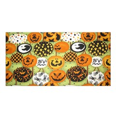 Print Halloween Satin Shawl by Jojostore
