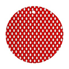 Red Circular Pattern Ornament (round)  by Jojostore
