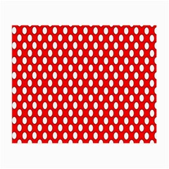 Red Circular Pattern Small Glasses Cloth by Jojostore