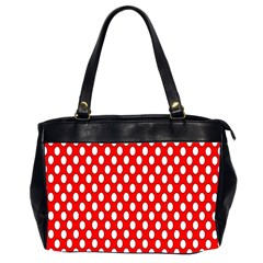 Red Circular Pattern Office Handbags (2 Sides)  by Jojostore