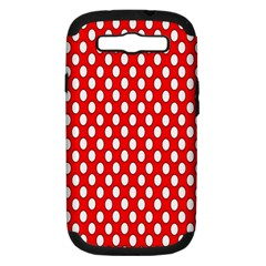 Red Circular Pattern Samsung Galaxy S Iii Hardshell Case (pc+silicone) by Jojostore