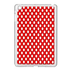 Red Circular Pattern Apple Ipad Mini Case (white) by Jojostore