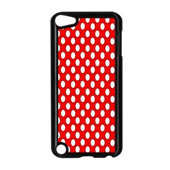 Red Circular Pattern Apple Ipod Touch 5 Case (black) by Jojostore