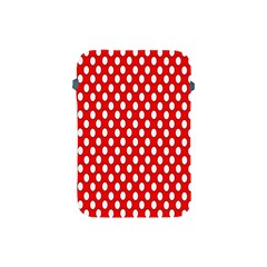 Red Circular Pattern Apple Ipad Mini Protective Soft Cases by Jojostore
