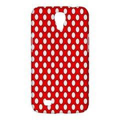 Red Circular Pattern Samsung Galaxy Mega 6 3  I9200 Hardshell Case by Jojostore