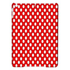 Red Circular Pattern Ipad Air Hardshell Cases by Jojostore
