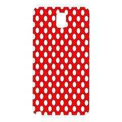 Red Circular Pattern Samsung Galaxy Note 3 N9005 Hardshell Back Case by Jojostore