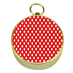 Red Circular Pattern Gold Compasses by Jojostore