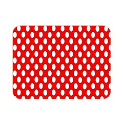 Red Circular Pattern Double Sided Flano Blanket (mini)  by Jojostore