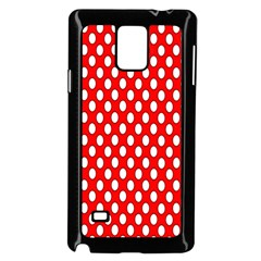 Red Circular Pattern Samsung Galaxy Note 4 Case (black) by Jojostore