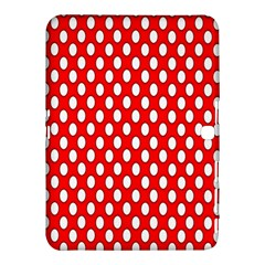 Red Circular Pattern Samsung Galaxy Tab 4 (10 1 ) Hardshell Case  by Jojostore