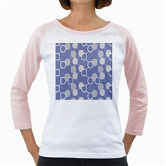 Round Blue Girly Raglans by Jojostore
